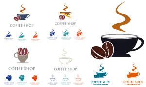 冒热气的咖啡图案标志创意矢量素材