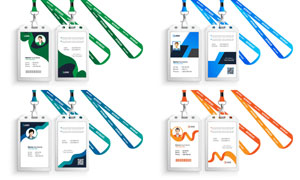 挂绳样式的证件卡设计模板矢量素材