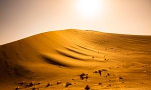 鸣沙山沙漠景点美丽风光摄影图片