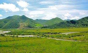 美丽的甘南尕秀村美景摄影图片