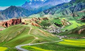 西北大山风光美景高清摄影图片