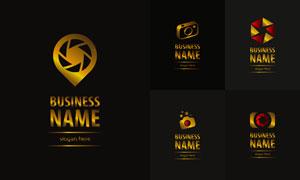 摄影行业金色图案标志设计矢量素材