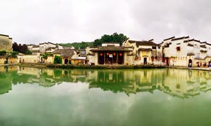 宏村建筑和江南水乡高清摄影图片