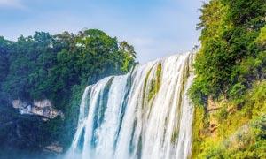 壮观的黄果树瀑布美景摄影图片