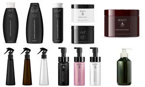 不同护肤产品的包装效果图矢量素材