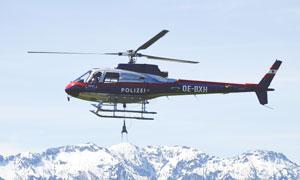 山區救援直升機高清攝影圖片