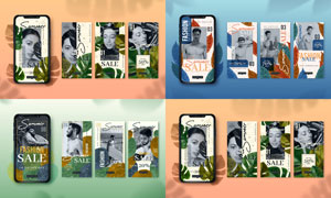智能手机移动端的海报版式设计素材