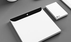 光盘封套与便签纸侧视图效果源文件
