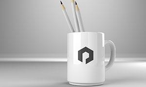 装铅笔的马克杯杯身图案展示源文件