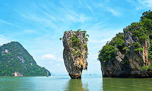 泰國普吉島攀牙灣美景攝影圖片