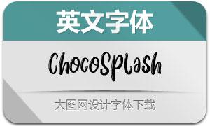 ChocoSplash系列三款英文字体