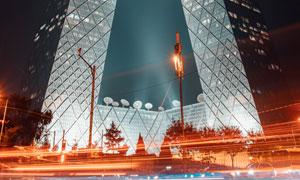 央视总部大楼夜景风光摄影高清图片