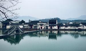 江南水乡徽派建筑风光摄影高清图片