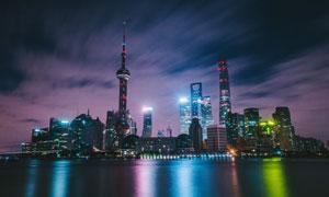 東方明珠塔等上海地標建筑高清圖片