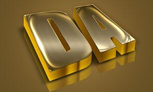 黄金立体字PSD模板