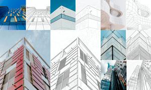 中文建筑物手繪素描效果PS動作