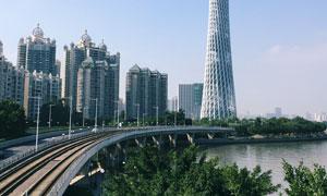 广州塔与城市建筑风光摄影高清图片