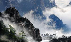 巍峨雄伟大山自然风光摄影高清图片
