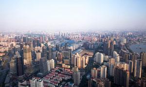 一座座林立的城市大楼摄影高清图片
