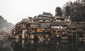 湖南凤凰古城旅游风光摄影高清图片