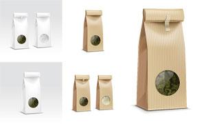 茶葉等產品包裝袋主題設計矢量素材
