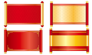 中国风红色圣旨模板PSD分层素材
