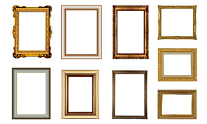 复古照片边框和相框模板PSD素材