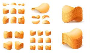爽脆口感薯条质感创意设计矢量素材