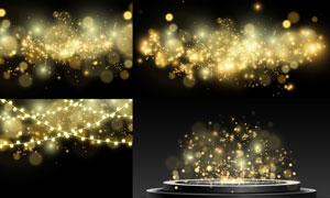 金色朦胧梦幻光斑设计元素矢量素材
