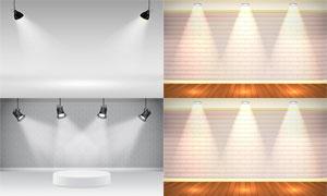 房间里的射灯设计元素主题矢量素材
