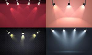 室内空间射灯照明效果主题矢量素材