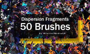 50款高清晰碎片装饰PS笔刷