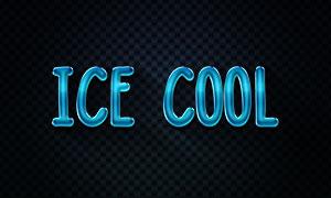 深蓝色冰爽样式立体字设计分层模板