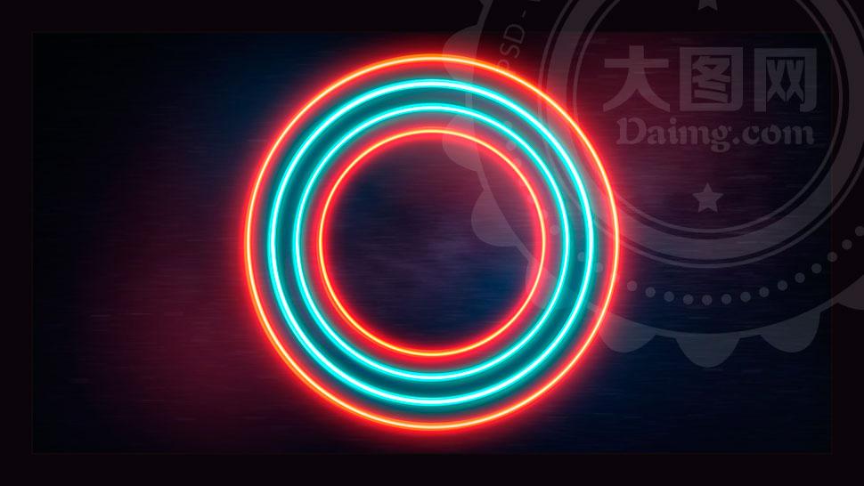 中文版霓虹灯主题文字设计PS动作