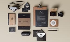 信纸名片盒与记事本等物流样机模板