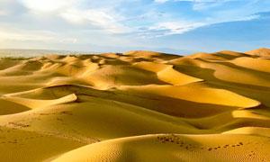 新疆库木塔格沙漠风光摄影图片