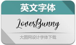 LoverBunny系列三款英文字体