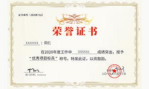 公司荣誉证书模板PSD素材