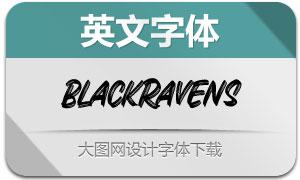 BlackRavens(英文字体)