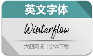 Winterflow系列三款英文字体