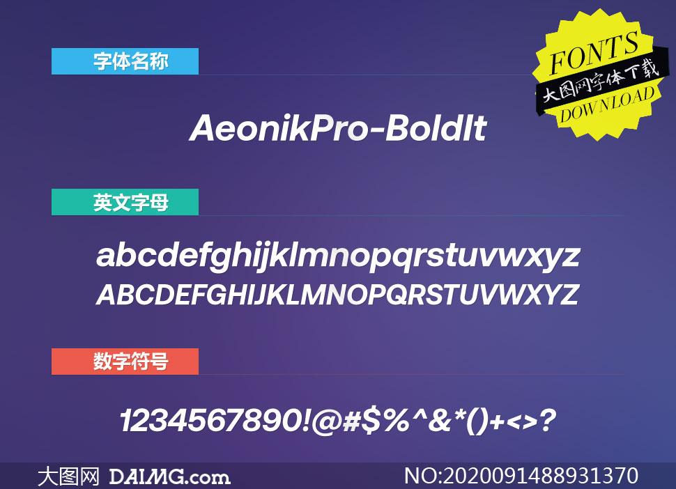 AeonikPro-BoldItalic(英文字体)