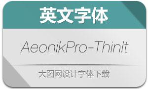 AeonikPro-ThinItalic(英文字体)