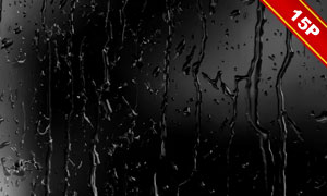 水滴与玻璃上的雨滴等合成高清图片