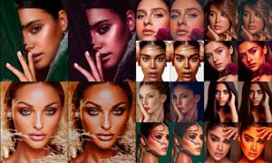 20款人物肖像金属质感肤色效果LR预设