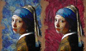 抽象的梵高绘画艺术效果PS动作
