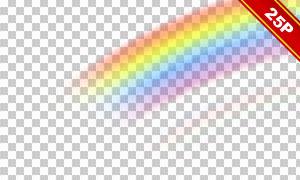 绚丽彩虹桥高光叠加用装饰高清图片