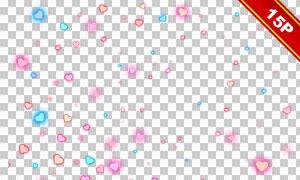 浪漫红心元素后期合成适用高清图片