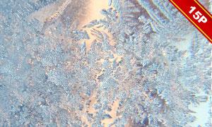 划痕冰面与冰晶等高光装饰图片素材