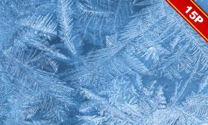 冰晶与破裂的冰面主题图层叠加素材