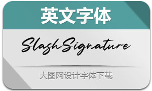 SlashSignature(英文字体)